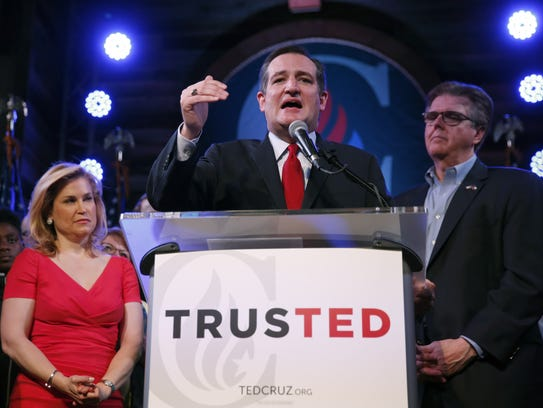Ted Cruz, with wife Heidi and Texas Attorney General