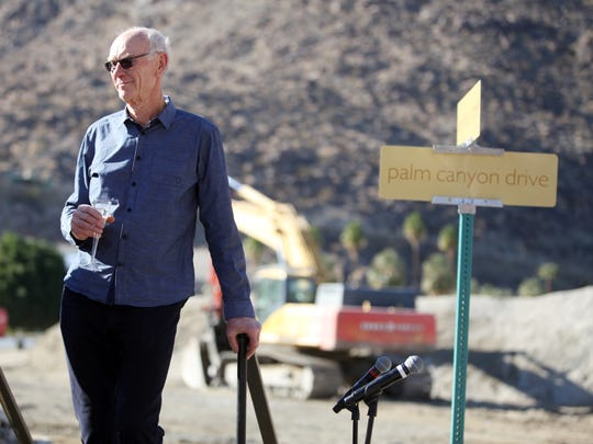 Developer John Wessman attends the groundbreaking ceremony for the Desert Fashion Plaza redevelopment project. The FBI seized documents regarding Wessman projects as part of an investigation into former Palm Springs Mayor Steve Pougnet.