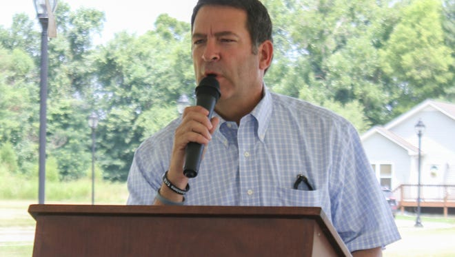Sen. Mark Green was present at the groundbreaking ceremony for the two new affordable housing units at Providence Pointe on Wednesday. The housing will be used primarily for low-income and disabled veterans.