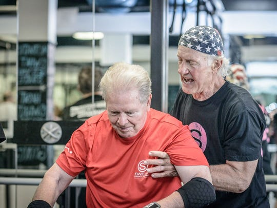 Rock Steady Boxing participants strengthen muscles