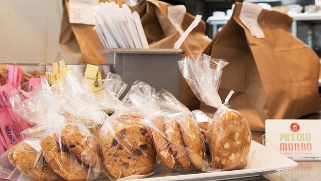Piccolo Mondo has added cookies to its daily roster of lunch items and snacks. The cookies include white chocolate chip and semisweet chocolate chip.
