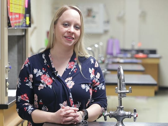 "Richelle Jochem teaches middle- and high-school science in the Goodman-Armstrong Creek School District. ""I do have things and we make it work. I just have to get really creative,"" she said."