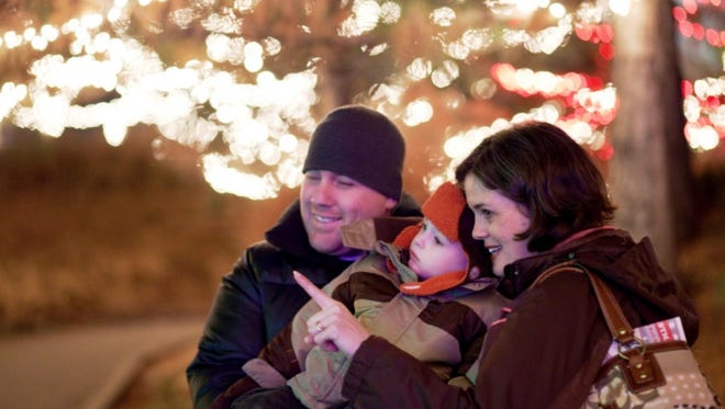 Families can tour the Indianapolis Zoo and see animals surrounded by lights. Activities for the kids makes the zoo a great holiday destination downtown.