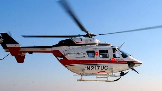 A medical helicopter responded to a crash in Butler County Wednesday morning.