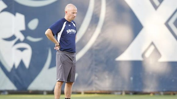 Xavier soccer coach Andy Fleming's team has five exhibitions