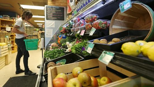 Pogue's Run Grocer on East 10th Street in Indianapolis sells organic, locally grown produce.