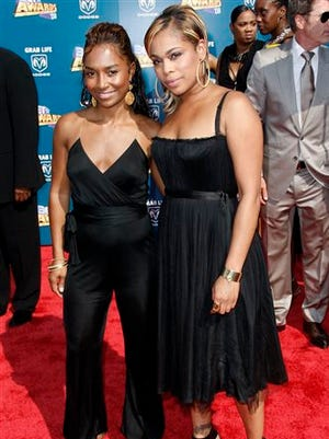 """File-This June 24, 2008, file photo shsows Tionne """"T-Boz"""" Watkins, right, and Rozonda """"Chilli"""" Thomas arrive at the BET Awards in Los Angeles. Grammy-winning R&B group TLC is depending on fans to fund the release of their final album through a Kickstarter campaign. The group, which currently consists of T-Boz and Chilli, launched the campaign on Monday, Jan. 19, 2015. It's been nearly 13 years since their last album, """"3D,"""" which was released seven months after the death of Lisa """"Left Eye"""" Lopes in 2002. (AP Photo/Matt Sayles, File)"""