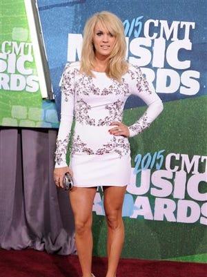 Carrie Underwood arrives at the CMT Music Awards at Bridgestone Arena on Wednesday, June 10, 2015, in Nashville, Tenn.