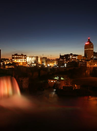 Sunset at High Falls in downtown Rochester Wednesday, Nov. 26, 2015.For my favorite, I chose a photograph I took of a sunset at High Falls in downtown Rochester.  I took this the day Rochester band Joywave and our D&C photo staff swapped Instagram accounts.  Figuring that many of JoywaveÕs 11,000 Instagram followers might not be from Rochester, I wanted to end our day of posts with an image that showcased the visual beauty of our city.