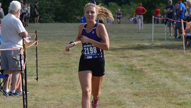 Lakeview's  Maggie Wood finishes first in the 2017 All-City Cross Country Meet on Wednesday.
