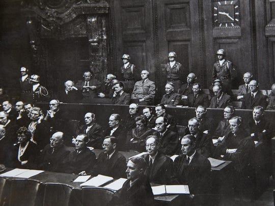 Valentino Casalena's photos of the Nuremberg Trials.