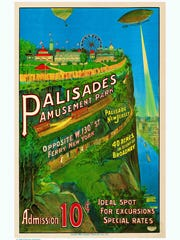 This lithograph was created by Westwood Gallery to capture the quality of one of the oldest and rarest posters of Palisades Amusement Park.