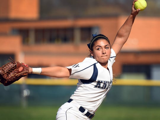 NV/Old Tappan senior pitcher Julie Rodriguez will be
