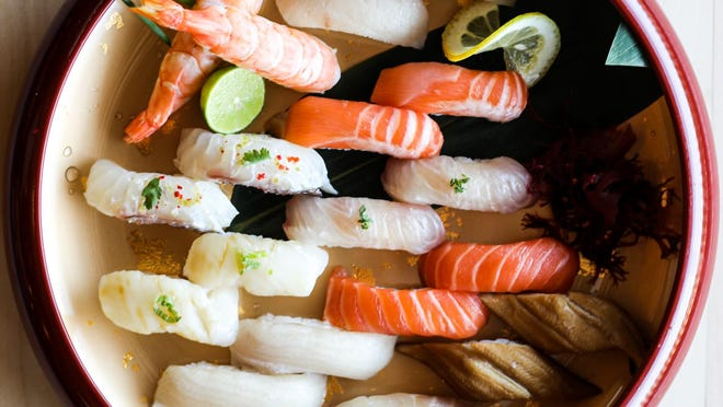 Neighborhood Sushi will serve a variety of nigiri when it opens Thursday.