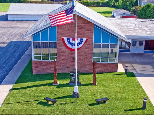 The 9/11 Memorial at Chili Fire Department Headquarters. Ironically, the building was dedicated on 9/11/1966.