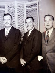 Willie McDonald, center, with Roy Lawrence, left, and Charles Daugherty