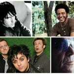 Clockwise from left, Trent Reznor of Nine Inch Nails, Bill Withers, Lou Reed and Green Day.