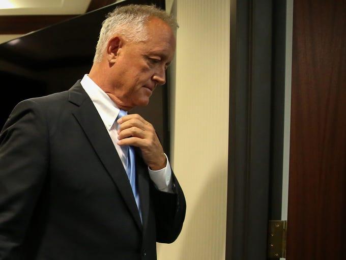 Hamilton County Prosecuting Attorney Joe Deters walks