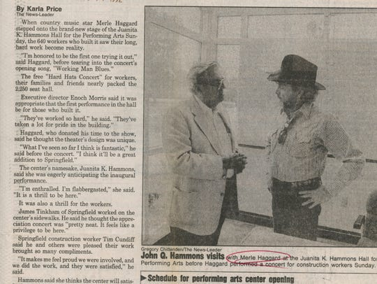 A newspaper clipping from August 17, 1992 when Merle