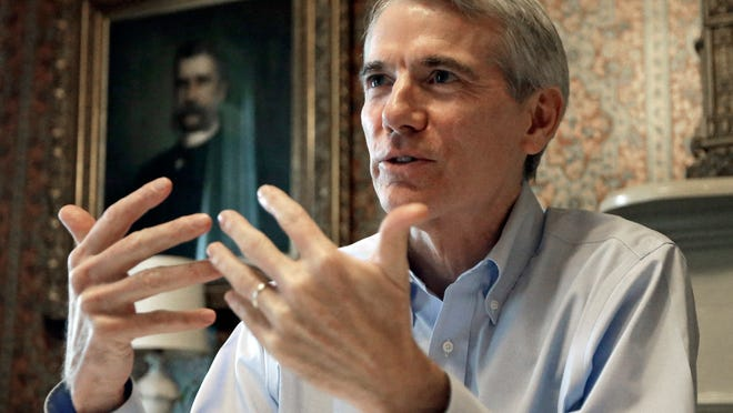 Sen. Rob Portman says pay issues make it hard to keep talented people in government.