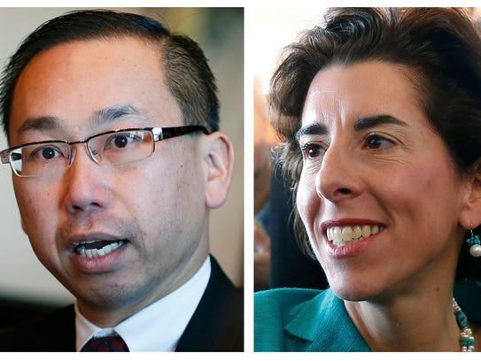 Republican Allan Fung, left, and Democrat Gina Raimondo