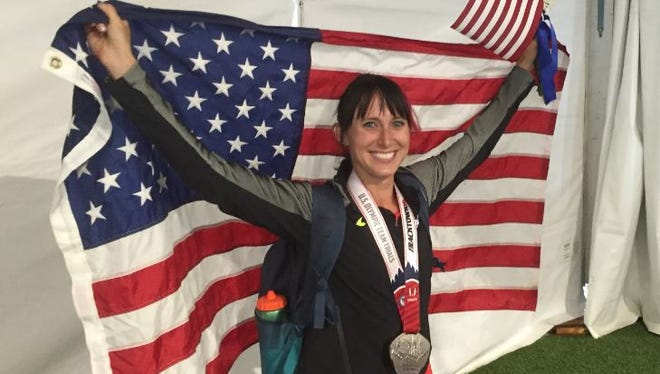Shelby Houlihan, after finishing second in the 5,000 finals of the U.S. Olympic Track and Field Trials at Eugene, Ore.