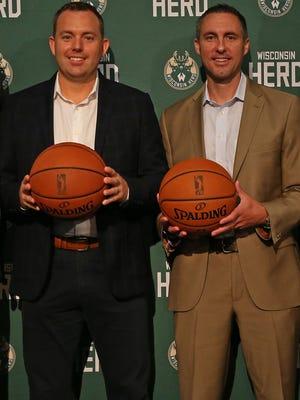 Bucks GM Jon Horst (left) and Herd GM Dave Dean.