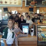 Dianne Hoffmeyer visits the Fort Gratiot Tim Horton's Tuesday, Sept. 22, 2015, after a Facebook post she made about an incident at the coffee shop went viral.