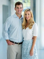 Eli and Abby Manning, honorary chairs of the $100 million
