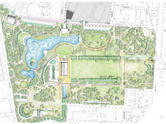 A rendering of what Centennial Park could look like,
