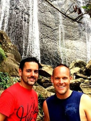 Justin Asher, 28, left, and Ben Colwell, 35