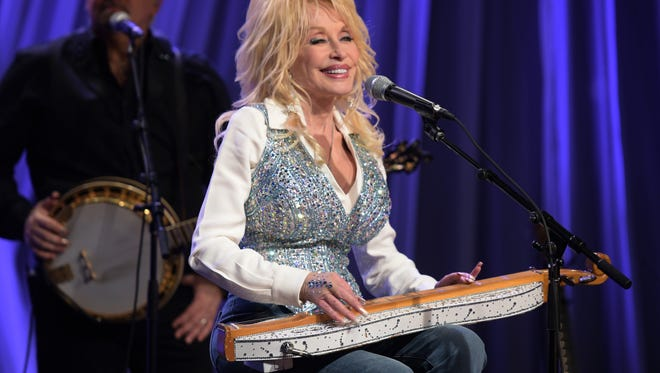 "Dolly Parton rehearses for the pre-taping for the ""Dolly Parton's Smoky Mountains Rise: A Benefit for the My People Fund""  on Dec. 13, 2016, in Nashville."