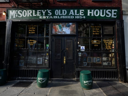 McSorley's Old Ale House.
