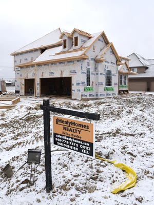 Homes within the Stoneleigh development along 10 Mile Road, just west of Milford Road, are part of Lyon Township's burgeoning home market.