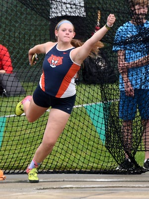 Briana Streib was an All-Ohioan in the discus throw her senior year at Galion.