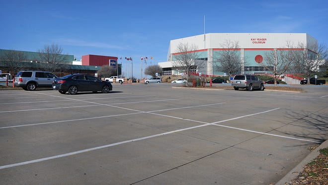 This parking lot in front of the Ray Clymer Exhibit Hall and the Kay Yeager Coliseum is the site of a proposed 150-room, full service hotel. The city announced in October they are changing hotel brands from Hilton Doubletree to Delta by Marriott. Financing plans were set to move forward at the Nov. 21 council meeting but they will be delayed until the January 16, 2018, meeting.