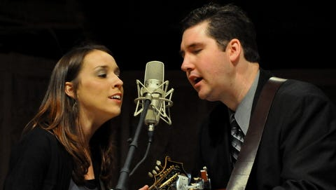 The acclaimed husband-and-wife duo play bluegrass and gospel in Tryon on Thursday.