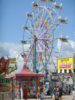 The Fond du Lac County Fair at the Fond du Lac County Fairgrounds last year. Rides, food and music were available for people of all ages.