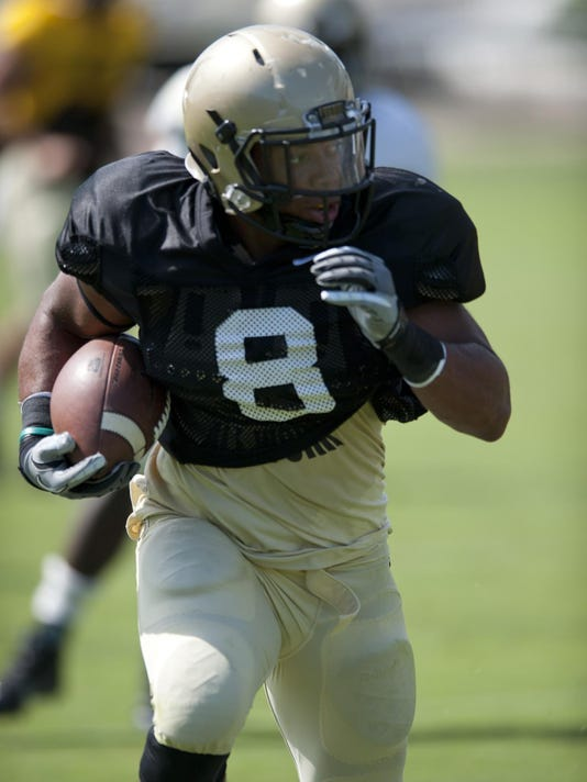 Purdue football jersey scrimmage