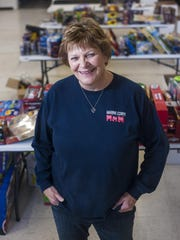Marylou Brewster of Toys for Tots organizes donations