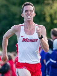 Steven Rizzo, captain of the Marist College men's track
