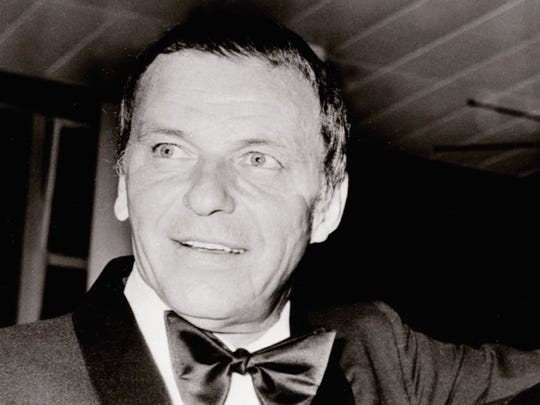 Frank Sinatra is seen in 1970. The previous year he
