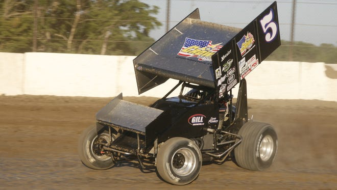 Byron Reed won the 410 Sprint feature race Saturday at Fremont Speedway.