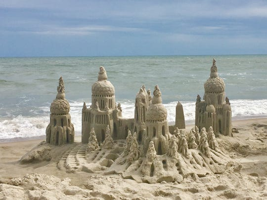 Lou Gagnon of Gainesville, Va., made this elaborate sandcastle on the beach on Emerald Isle, N.C., in late June.  He's been building sandcastles for more than 20 years, and has a website featuring his artistry at www.sandwatersky.com.
