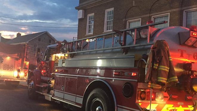 Fire crews respond to smoke in an apartment building in Biglerville on July 20, 2017. The Biglerville fire chief estimated 30 to 35 tenants were displaced.