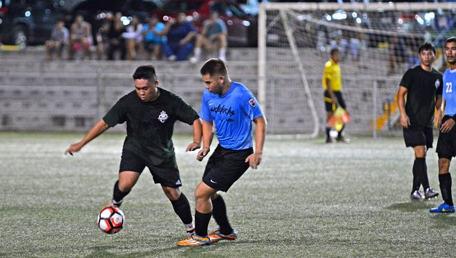 The University of Guam Tritons beat Sinko EuroCar 1-0 Monday night at the Guam Football Association Soccer Complex in the GFA Men's League (Division II).