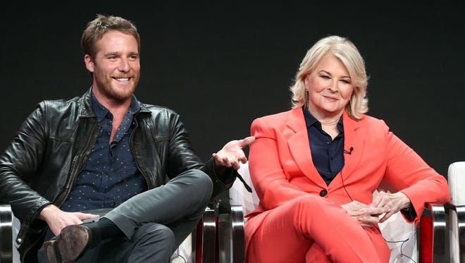 "Jake McDorman and Candice Bergen play mother and son on the CBS revival of ""Murphy Brown."""