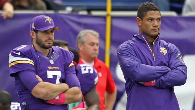 QB Christian Ponder (7) started the Vikings' last game while Josh Freeman returned from a concussion.