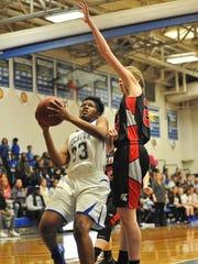 Stephen Decatur sophomore Amaya Mumford goes up for