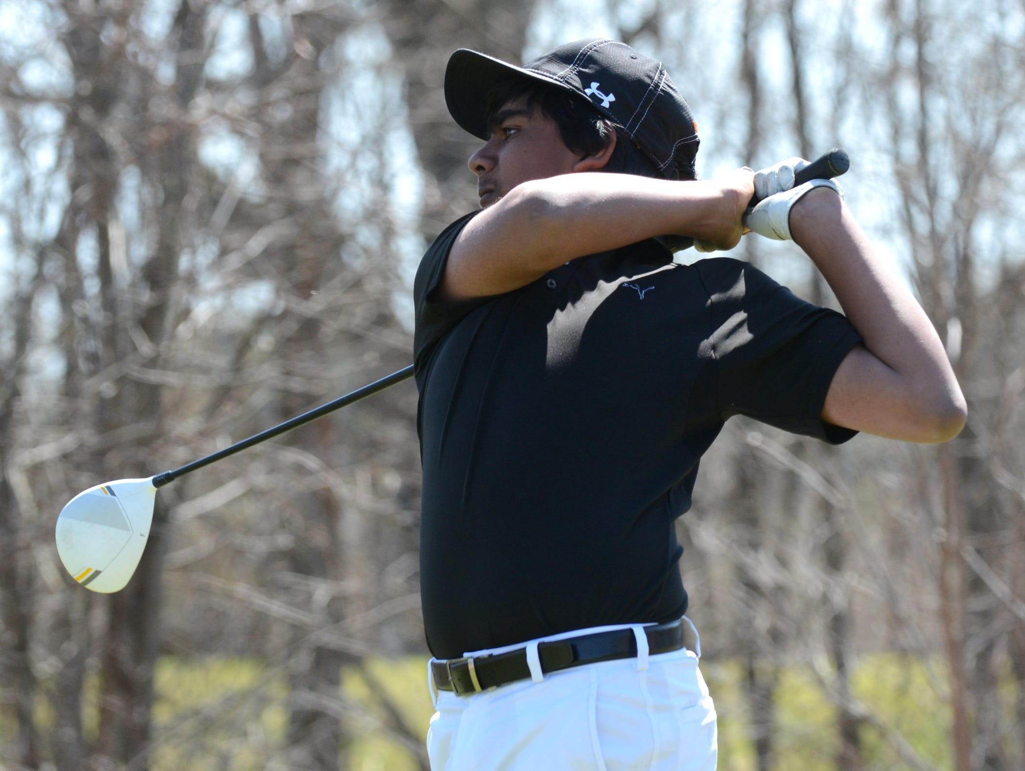 Freshman Abhi Alluri paced Northville in the district tourney in 12th place with an 18-hole total of 79.